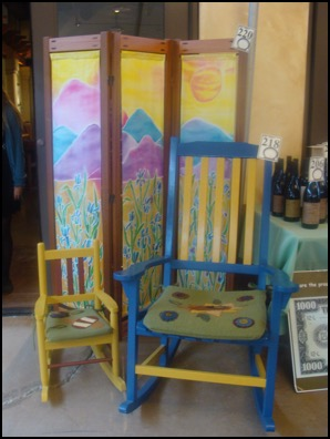student made rocking chairs and shoji screen